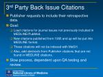 3 rd party back issue citations