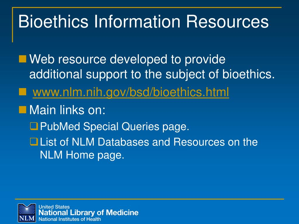 Bioethics Information Resources