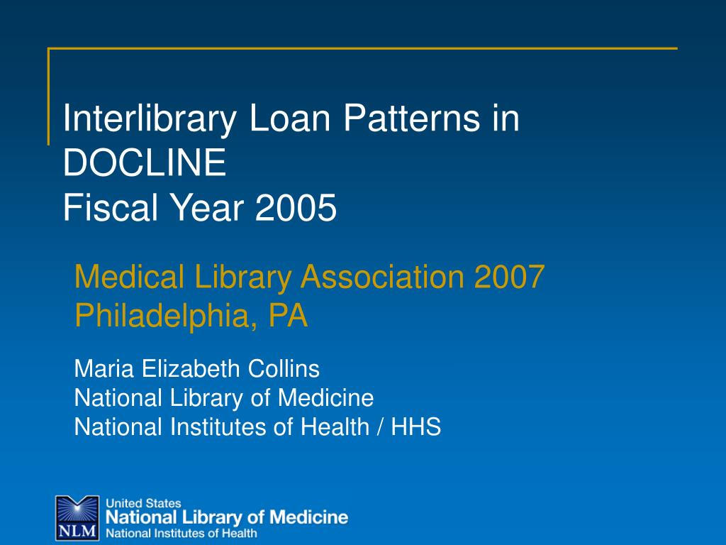 Interlibrary Loan Patterns in DOCLINE