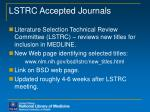 lstrc accepted journals