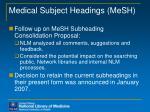 medical subject headings mesh
