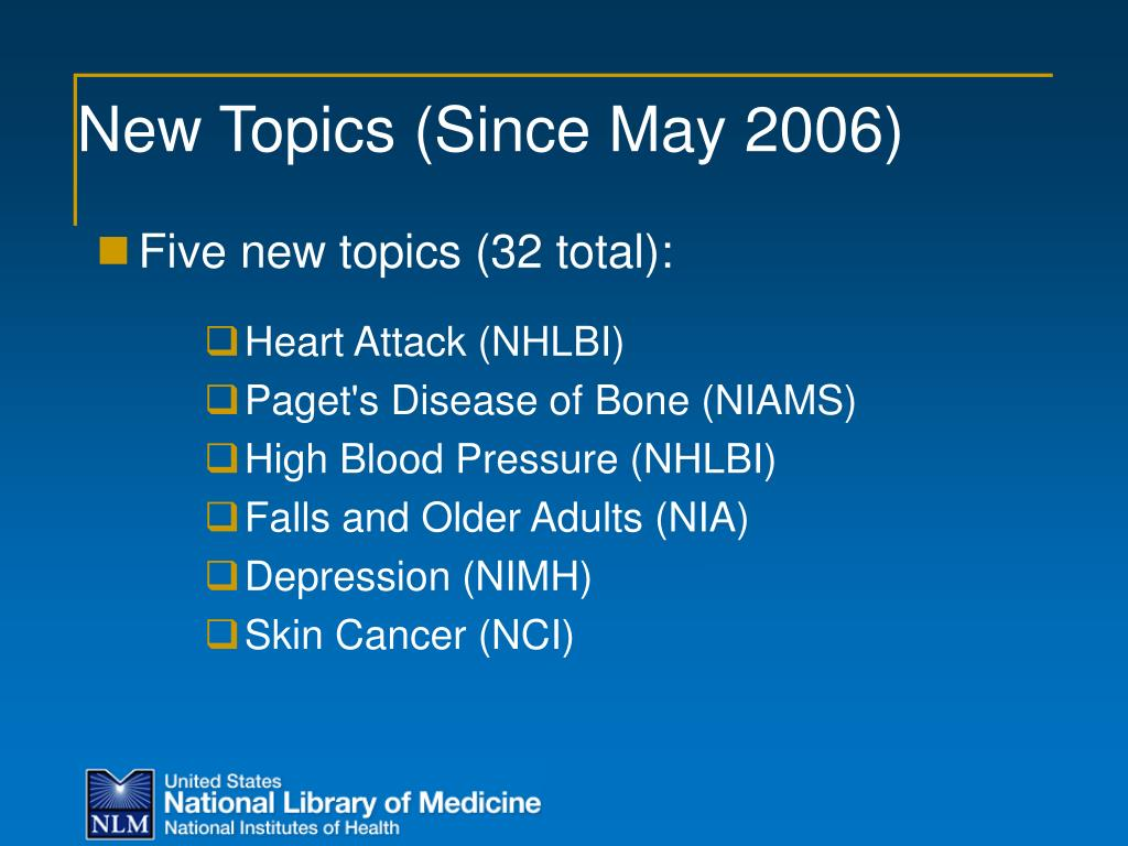 New Topics (Since May 2006)
