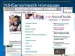 nihseniorhealth homepage