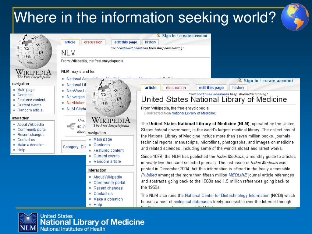 Where in the information seeking world?