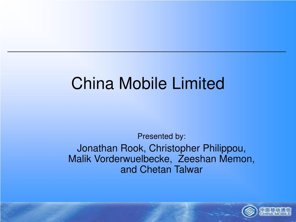 china mobile limited l.