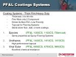 pf l coatings systems