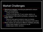 market challenges32