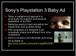 sony s playstation 3 baby ad