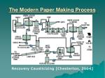the modern paper making process21