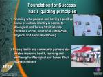 foundation for success has 8 guiding principles