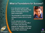 what is foundations for success