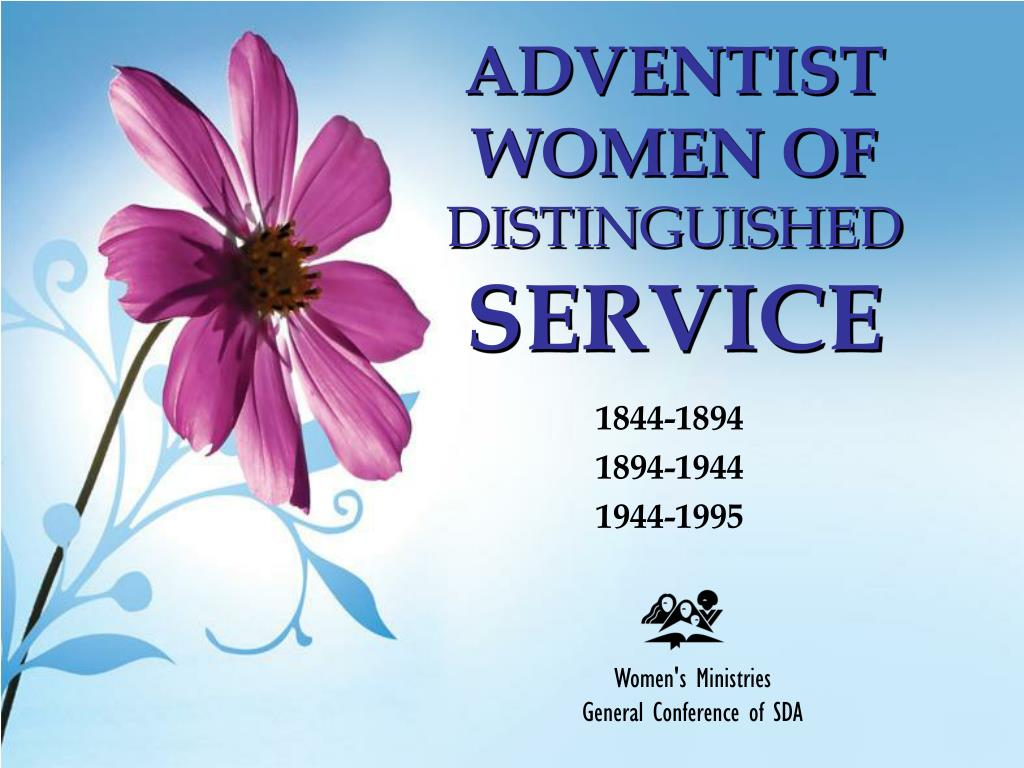adventist women of distinguished service l.