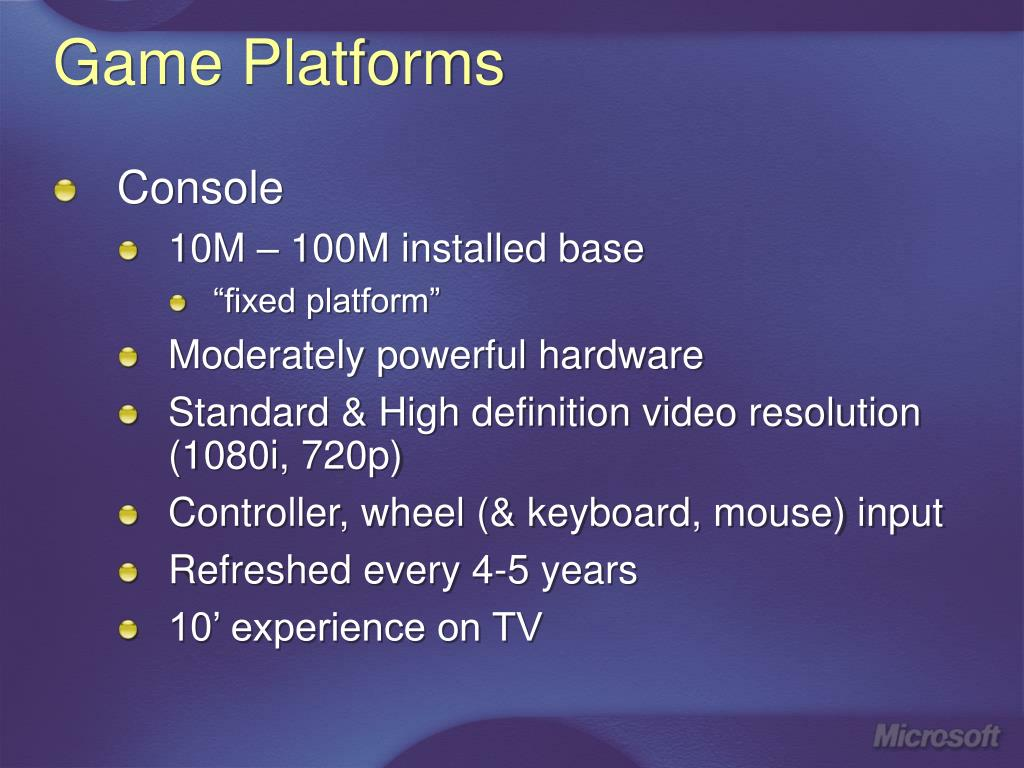 Game Platforms