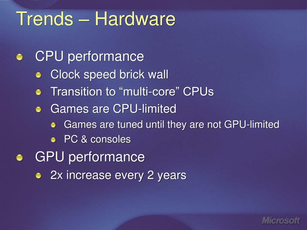 Trends – Hardware