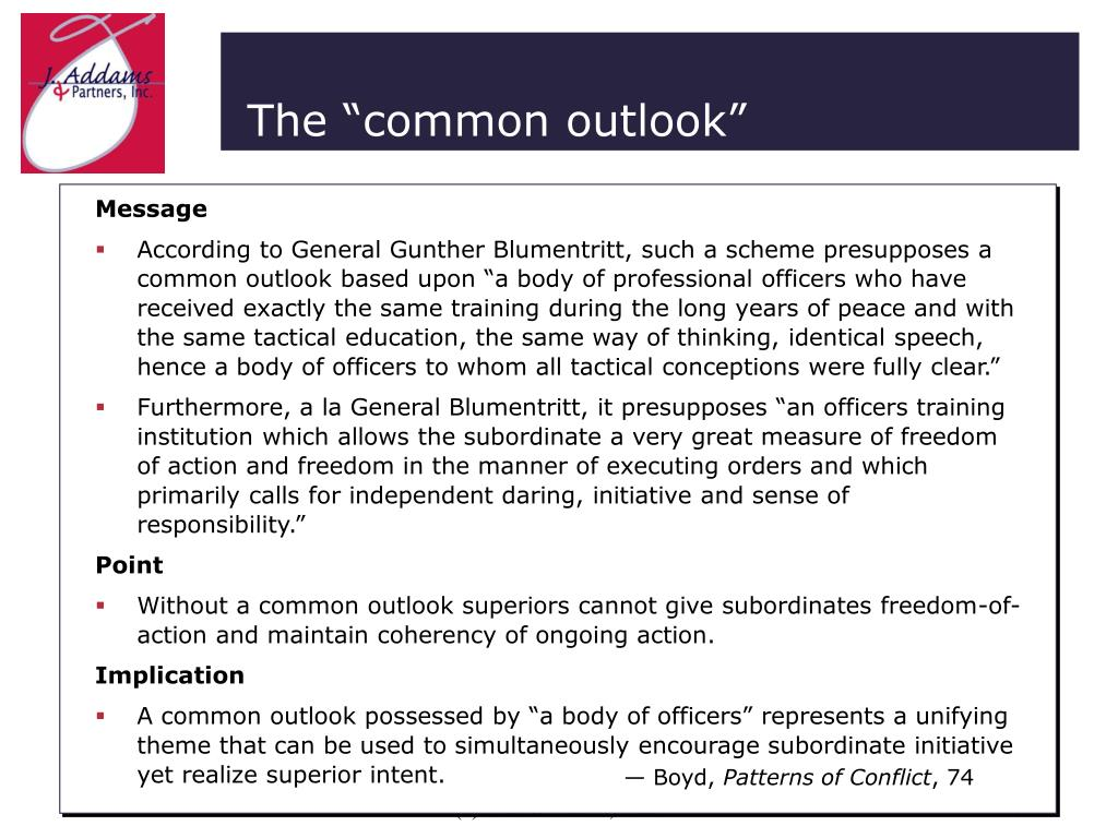 """The """"common outlook"""""""