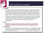the common outlook42
