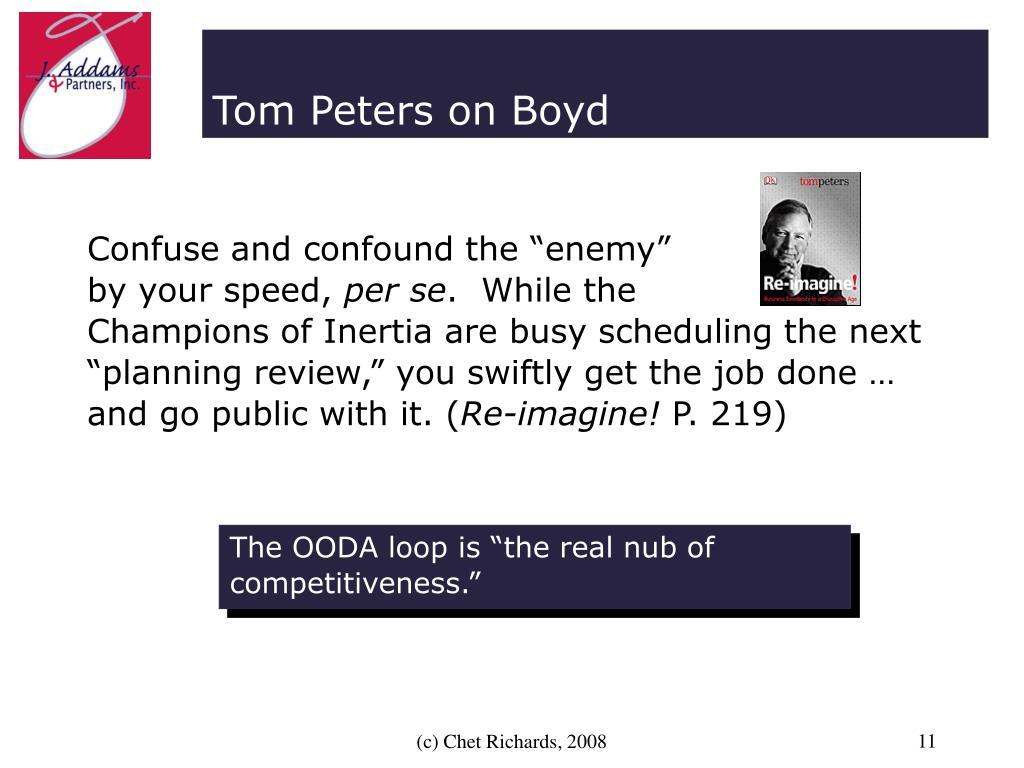Tom Peters on Boyd