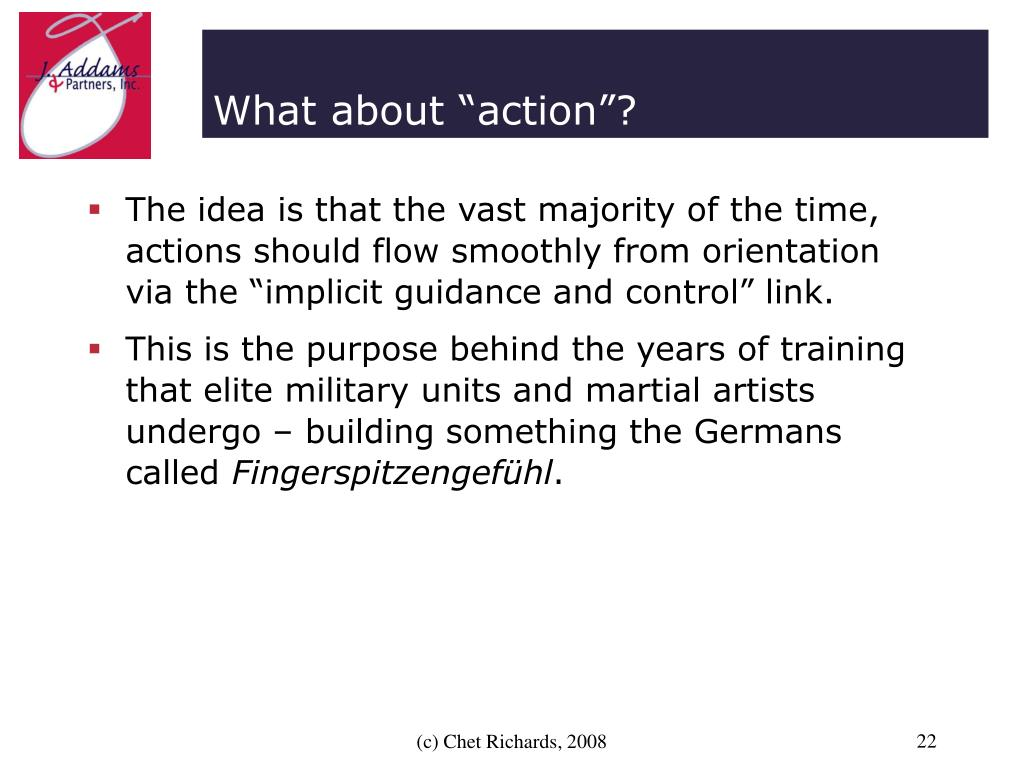 """What about """"action""""?"""