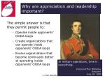 why are appreciation and leadership important
