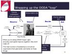 wrapping up the ooda loop