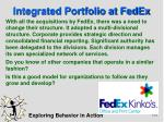 integrated portfolio at fedex