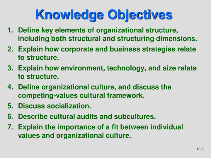 understand the relationship between organizational structure and culture 2 Home management concepts relationship between organizational structures and cultures the understanding of organizational cultures is equally important for managers and owners not divisional structure + create culture: since the structure is one which brings together different.