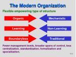 the modern organization