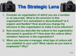the strategic lens