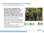 environmental guidelines for purchasers 2 promote sustainable forest management