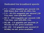 dedicated line broadband speeds