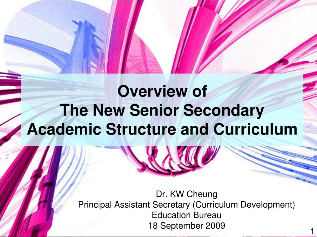 overview of the new senior secondary academic structure and curriculum l.