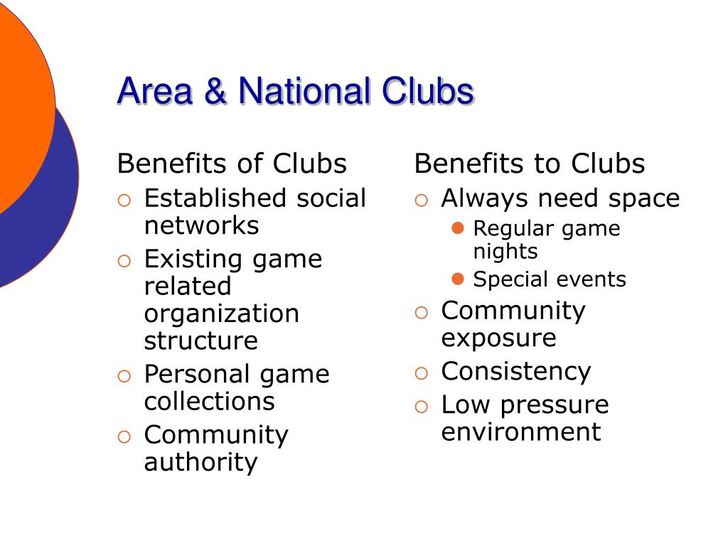 Benefits of Clubs