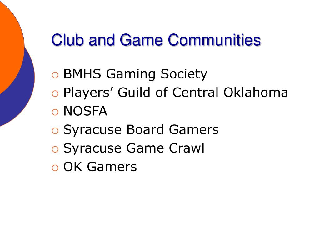 Club and Game Communities