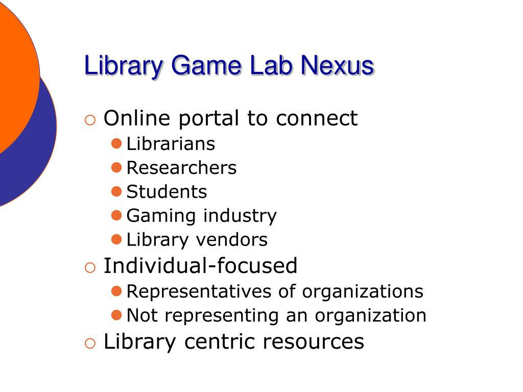 Library Game Lab Nexus