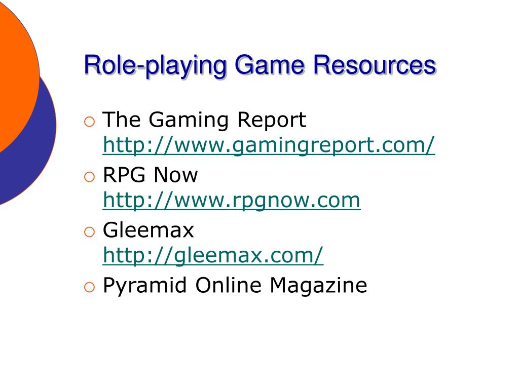 Role-playing Game Resources