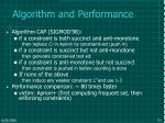 algorithm and performance