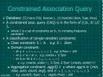 constrained association query