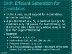 dhp efficient generation for candidates