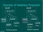 example of database projection