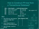 how to construct fp tree from a transactional database