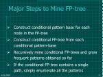 major steps to mine fp tree