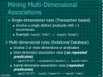 mining multi dimensional associations