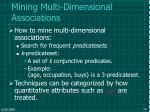 mining multi dimensional associations58