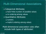 multi dimensional associations