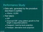 performance study177