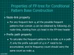 properties of fp tree for conditional pattern base construction