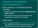 property of constraints succinctness cont