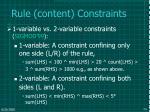rule content constraints
