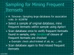 sampling for mining frequent itemsets