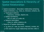 spatial associations hierarchy of spatial relationships